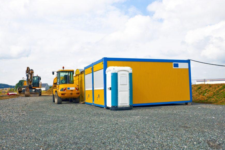 Baustellencontainer und mobiles Toilettenhaus